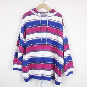 Vintage striped summer hoodie beach surf style